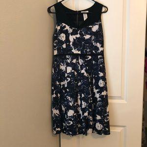 ModCloth blue and black dress